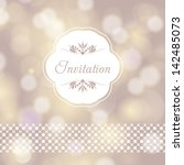 vector wedding card or... | Shutterstock .eps vector #142485073
