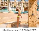 funny teenage girl cooling in...   Shutterstock . vector #1424868719
