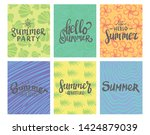 summer theme typography with... | Shutterstock .eps vector #1424879039
