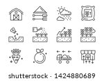 set of flat line icons for... | Shutterstock .eps vector #1424880689