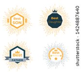 emblem  for best family. best...   Shutterstock . vector #1424887640