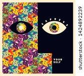 "conceptual ""express yourself""... | Shutterstock .eps vector #1424892239"