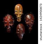 photo ethnic masks. masks for... | Shutterstock . vector #1424900873