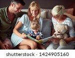 little girl in happy family...   Shutterstock . vector #1424905160