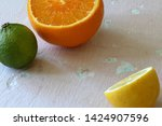 green juicy lime  orange and...   Shutterstock . vector #1424907596
