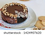 cake without baking cookies and ...   Shutterstock . vector #1424907620