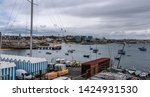 cascais  portugal docks and... | Shutterstock . vector #1424931530