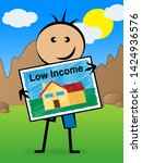 low income homes and houses...   Shutterstock . vector #1424936576