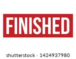 finished rubber stamp. red... | Shutterstock .eps vector #1424937980