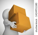 parcel or package delivery... | Shutterstock . vector #1424951180
