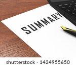 executive summary report icon... | Shutterstock . vector #1424955650
