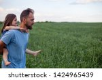 father with his daughter in...   Shutterstock . vector #1424965439