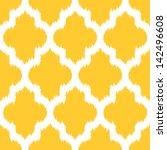 geometric ikat background... | Shutterstock .eps vector #142496608