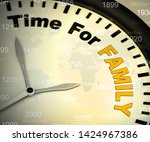 time for family concept icon...   Shutterstock . vector #1424967386