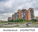 modern residential buildings in ...   Shutterstock . vector #1424967920