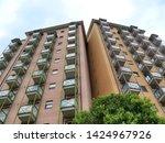 modern residential buildings in ...   Shutterstock . vector #1424967926