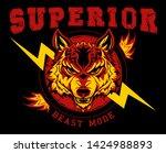vector wolf head illustration... | Shutterstock .eps vector #1424988893