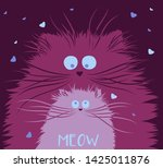 lovers cute cats. illustration...   Shutterstock .eps vector #1425011876