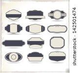 empty vintage labels | Shutterstock .eps vector #142501474