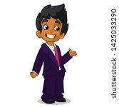 cartoon illustration of afro... | Shutterstock . vector #1425033290