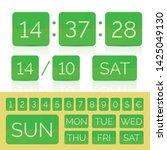 vector green flat calendar with ... | Shutterstock .eps vector #1425049130