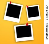 set of photo frames on abstract ...   Shutterstock .eps vector #142505164