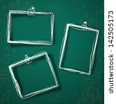 set of photo frames on abstract ... | Shutterstock .eps vector #142505173