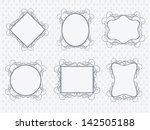 set of photo frames on abstract ... | Shutterstock .eps vector #142505188