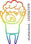 rainbow gradient line drawing... | Shutterstock .eps vector #1425067379