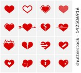 heart icon set | Shutterstock .eps vector #142506916