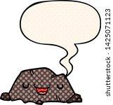 cartoon rock with speech bubble ... | Shutterstock .eps vector #1425071123