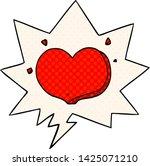cartoon love heart with speech... | Shutterstock .eps vector #1425071210