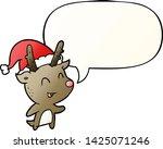 cartoon christmas reindeer with ... | Shutterstock .eps vector #1425071246