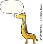 cartoon giraffe with speech... | Shutterstock .eps vector #1425071633