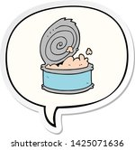 cartoon canned fish with speech ... | Shutterstock .eps vector #1425071636