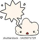 cute cartoon cloud with speech... | Shutterstock .eps vector #1425071729
