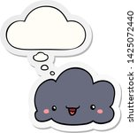 cute cartoon cloud with thought ... | Shutterstock .eps vector #1425072440