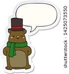 cartoon bear with speech bubble ... | Shutterstock .eps vector #1425073550
