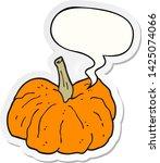 cartoon squash with speech... | Shutterstock .eps vector #1425074066