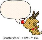 cartoon christmas reindeer with ... | Shutterstock .eps vector #1425074153