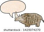 cartoon rhinoceros with speech... | Shutterstock .eps vector #1425074270