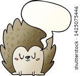 cute cartoon hedgehog with... | Shutterstock .eps vector #1425075446