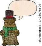 cartoon bear with speech bubble ... | Shutterstock .eps vector #1425075509