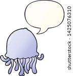 cartoon jellyfish with speech... | Shutterstock .eps vector #1425076310