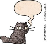 cartoon cat looking right at... | Shutterstock .eps vector #1425076316