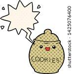 cute cartoon cookie jar with... | Shutterstock .eps vector #1425076400