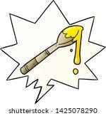 cartoon spoonful of honey with... | Shutterstock .eps vector #1425078290