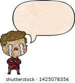 cartoon man crying with speech... | Shutterstock .eps vector #1425078356
