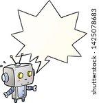 cute cartoon surprised robot... | Shutterstock .eps vector #1425078683