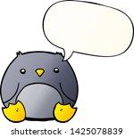 cartoon penguin with speech... | Shutterstock .eps vector #1425078839